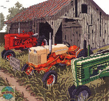Cross Stitch Kit ~ Janlynn Old Farm Auction Day Classic Tractors #080-0480
