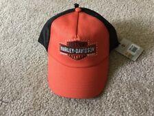 Harley Davidson Mesh Panel Bar And Shield Bling Women's Hat NWT