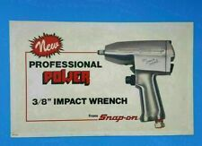 """Vintage SNAP ON TOOL New Professional Power 3/8"""" Impact Wrench Dealer Sign 24x15"""