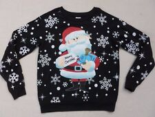 RUDOLPH THE RED NOSED REINDEER SANTA CHRISTMAS SWEATSHIRT SWEATER TOP SMALL