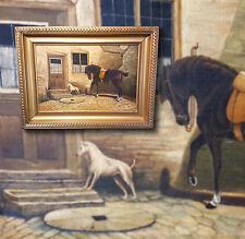 Antiguo Pinturas de caballos n. CHARLTON Inglaterra 1849-17 Pintura al óleo