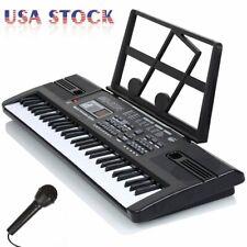 61 Key Music Electronic Keyboard Digital Piano Organ w/ Stand and Microphone Kit