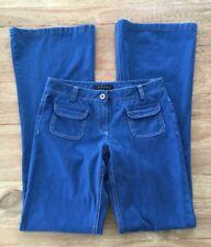 "THEORY   Blue Cotton Boot Cut Wide- Leg Jeans Denim Pants Trouser Size 0 (w28"")"