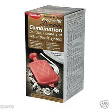 Premium Latex Free Enema Bag / Colon Cleansing / Douche Hot Water Bottle Combina