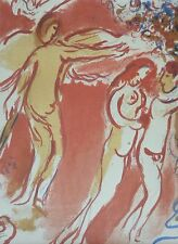 MARC CHAGALL BIBLE Adam and Eve Paradise on Earth HAND NUMBERED LITHOGRAPH M237