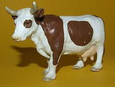 Schleich Schleichtier - Cow brown white Kuh braun weiß 13213