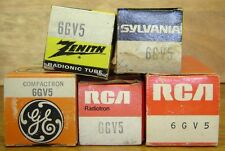 1 6Gv5 Vacuum Tube Tested Nos/Nib 5 Available Rca, Sylvania, Zenith, Ge
