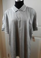 NWT Men's Michael Kors Logo Gray/White 100% Cotton Short Sleeve Polo Shirt XL