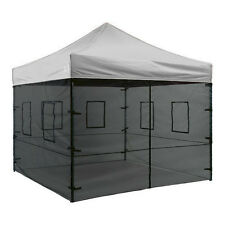 10 X 10 EZ Pop Up Canopy Tent Instant Canopy Commercial Tent with Mesh Sidewalls
