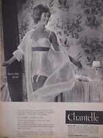 PUBLICITÉ PRESSE 1960 CHANTELLE GAINE 603 et le SOUTIEN-GORGE 104 - ADVERTISING