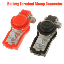 2x Adjustable Car Battery Terminal Ends Clamp Clips Connector Positive Negative