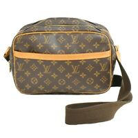 Louis Vuitton Reporter PM M45254 Monogram Shoulder Crossbody Bag Pochette Unisex