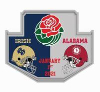 2021 ROSE BOWL GAME PIN NOTRE DAME VS ALABAMA CRIMSON TIDE 2020 COLLEGE FOOTBALL
