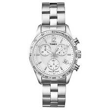 Timex City Chronograph Stainless Steel Ladies Watch T2P059