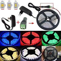 5M 300 LED Strip Light 3528 5050 5630 SMD 12V LED Flexible Lights/Adapter/DC KIT