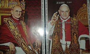 Sellos - Hojas bloque del Zaire. Papas del Vaticano. 1979.