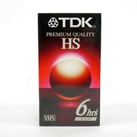TDK Premium Quality HS VHS Video Cassette Tapes T120 6 Hours Lot of 3 New Sealed
