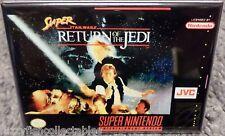 "Super Star Wars Return Snes Game Box 2"" x 3"" Fridge Locker Magnet Nintendo"