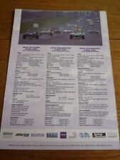 CATERHAM MOTORSPORT 'SALES BROCHURE' SHEET 2001