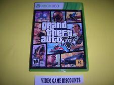 Original Box Case for Microsoft Xbox 360 XB Grand Theft Auto V 5