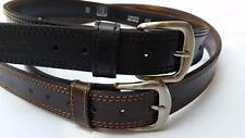 New Genuine leather Gun holster Belt HEAVY DUTY 2 PLY Double Stitched Size 38-58