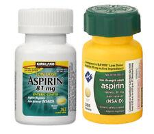 Low Dose ASPIRIN Kirkland Signature 81mg 1 Bottle 365 Tablets Enteric Coated