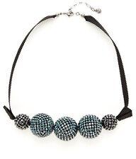 Swarovski Crystal Ball Pin Up Necklace Large Indigo Item # 1110462 Rare Signed