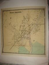 HUGE FINE ANTIQUE 1867 PORT CHESTER WESTCHESTER COUNTY NEW YORK HANDCOLORED MAP