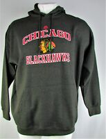 Chicago Blackhawks NHL Majestic Men's Charcoal Pullover Hoodie