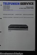 Telefunken Service Manual Videorecorder A 920 / 2920 / 2925 / 2930 Schaltplan