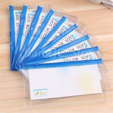 1x Clear Transparent PVC Plastic Pencil Eraser Stationery Case Zipped Bag Pouch