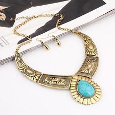 Vintage Boho Retro Fashion Jewelry Pendant Choker Statement Bib Collar Necklace