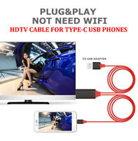 USB3.1 Type-C to HDMI Cable For Samsung Phone LG G5 G7 V20 1080P 4K TV Projector