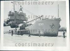 1945 US Coast Guard Ice Breaker Ship in Delaware River Philadelphia Press Photo