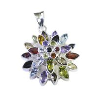 appealing Multi 925 Sterling Silver Multi Pendant Natural supply US gift