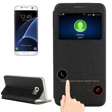 Samsung Galaxy S7 Edge Handytasche Business Standfunktion ID Fenster Schwarz