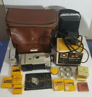 Vintage KODAK Instamatic M6 Super 8 Movie Camera/ Light Bundle *UNTESTED* AS-IS