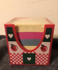Vintage LISA FRANK Stationery Memo Paper Cube Apple Design New Old Stock