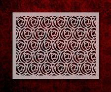 "Rose Pattern 8.5"" x 11"" Stencil FAST FREE SHIPPING (580)"