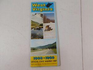 Vintage 1968-69  Road Map of West Virginia