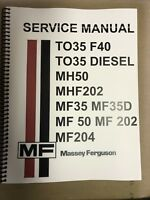 TO35 Ferguson Tractor Technical Service Shop Repair Manual Massey TO 35 Gasoline