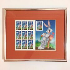 Framed Unused Sheet of Bugs Bunny 32 Cent US Stamps - 1997