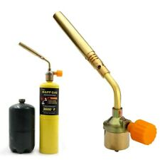 Mapp Gas No Self Ignition Plumbing Turbo Torch Propane Soldering Brazing Welding