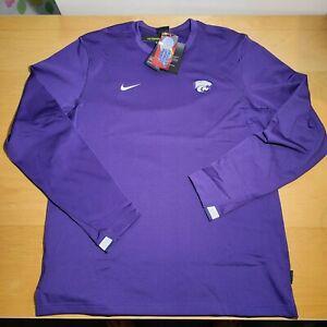 New Nike Dri-Fit Kansas State Wildcats Men's Long Sleeve CQ5050-566 Size L