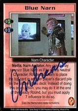 BABYLON 5 CCG Trading Card Andreas Katsulas Signed Blue Narn AUTOGRAPHED