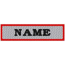 CUSTOM  MOTORCYCLE NAME PATCH 100% EMBROIDERED