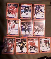1991-92 SCORE BLISTER PACK HOT CARD INSERT SET OF 10 GRETZKY HULL LEMIEUX JAGR