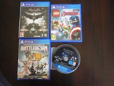 PS4 / Lot de 4 jeux / shadow mordor /batman/lego avengers/battleborn/ occasion