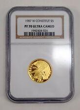 NGC PF 70 Ultra Cameo 1987 W $5 U.S. Constitution Centennial Gold Commemorative