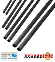 4 3 6 5x  200mm Lengths Carbon Fibre Tubes Rods Strips: 2 8,10,12,15,20mm 5